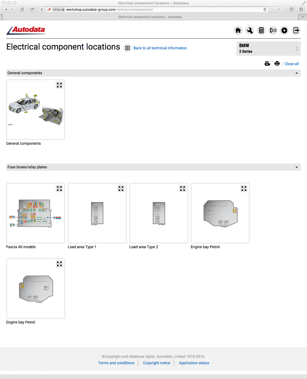 Electrical component locations
